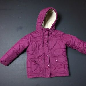 Lands End Coat Girls 4 Winter Ski Jacket Coat hood